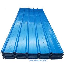 亜鉛壁パネルのための上塗を施してある多彩な波形の屋根ふきの鋼鉄