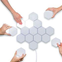 Venta caliente Sensor bricolaje toque de pared de luz LED de iluminación de pared de la luz de panal.