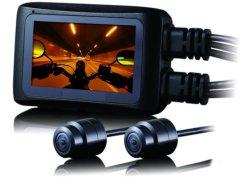 """2.7 """" wasserdichte volle HD 1080P Motorrad-Zweikanalkamera des LCD-Nocken-"""