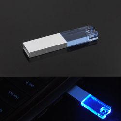 Het kristal graveert Aandrijving 1GB-256GB van de Flits van de Stokken van het Embleem USB de Transparante