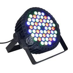 LED de aluminio de alta potencia de luz 54PCS PAR puede 3W de un solo color RGBW Slim iluminación de escenarios PAR 64 Iluminación DJ