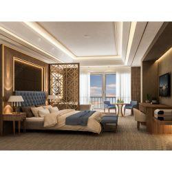 Arredamento interno dell'hotel di lusso Camera da letto fabbrica cinese su misura 5 Fornitore del set di camere Star Hotel