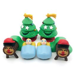 Le decorazioni DIY di festa perfezionamento i giocattoli miniatura della plastica dell'albero di Natale di mini inverno