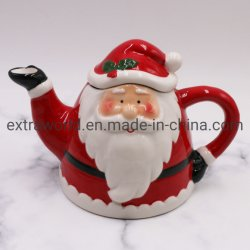 الجملة سانتا تيابو الجميلة عيد الميلاد هدية خزفية الشاي بوت