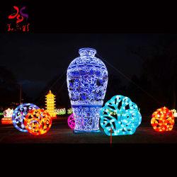 Forma de botella del Festival de linterna LED de iluminación de exterior