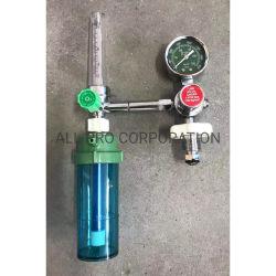 Medidor de caudal Regulador de presión de oxígeno de la válvula del manómetro medidor de flujo de gas tipo boya inhalatoria