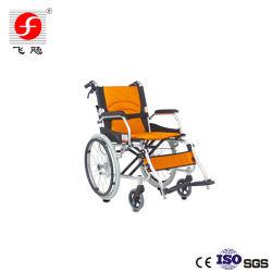 Передвижная легкая алюминиевая транспортная ручная инвалидная коляска для инвалидов и пожилых людей