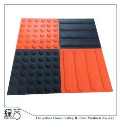 Baratos piso de goma antideslizante azulejos táctil para invidentes