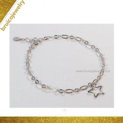Rhodium van de Juwelen van Hip Hop 18K de Gouden Armband van de Juwelen van de Ketting Zilveren