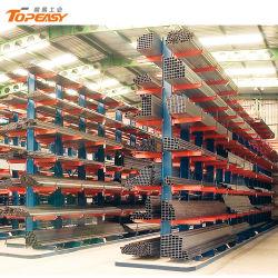 Rack a sbalzo in lamiera di acciaio per impieghi pesanti su due lati per stoccaggio di tubi