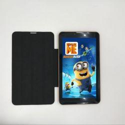 7 de Telefoon die van de duim 3G Androïde Tablet met de Dekking van het Leer en de Dubbele Camera van de Groef 2.0MP van de Kaart SIM roepen