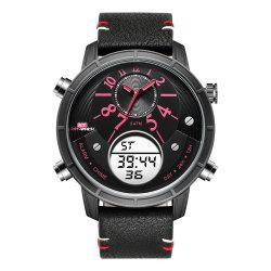صنع هدية [منس] ساعة مع [ستلس] فولاذية شريط كوارتز [ديجتل تيم] [كرونوغراف] جودة ساعات جمليّة