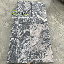 중국 Juparana 사파 화강암 갱은 싸게 포장 석판을 보았다