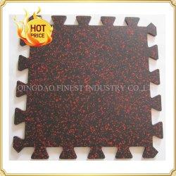 Insonorizados popular puzzle acústico do Intertravamento Ginásio Tapete piso de borracha do piso de borracha capachos Tile para Fitness