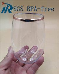 Goldfelgen-Plastikwein geriffelt Wein-Gläser