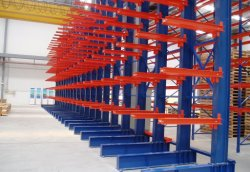 Revêtement en poudre en acier robuste du Rack de tuyauteries cantilever