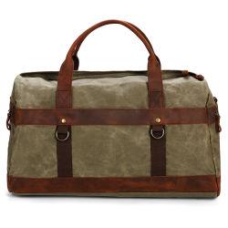 Большой объем смазанной Canvas воды Repellence сумки из натуральной кожи Duffel дорожная сумка (RSS-8826)
