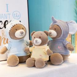 Il nuovi calmano i bambini dei giocattoli della peluche dell'abbraccio di sonno della bambola dell'orso del bambino del vestito dalla bambola dell'orso presenti per il regalo di giorno dei suoi bambini dell'amica