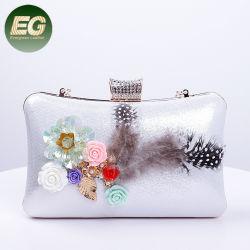 Form-Dame-Handtaschen-Abend-Handtasche-Fonds mit Feder-Blume Eb1023