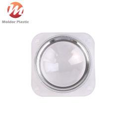 أغطية مصابيح بلاستيكية شفافة مع حلقات من الألومنيوم قالب حقن بلاستيكي الأجزاء