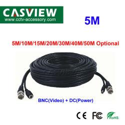 2 in 1 BNC videoenergien-Kabel 5 Meter CCTV-bedienungsfertige Kabel-für CCTV-Überwachungssystem