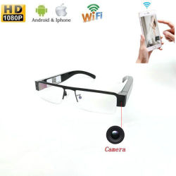 1080P de FHD Wireless WiFi se detecte movimiento Gafas Cámara Grabadora de vídeo