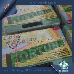 Commicalの使用法のための宝くじのカードを離れたカスタム反偽造品の機密保護スクラッチ