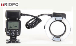 Triopo Powerfull Marco LED Ring Flash Light Tr-15ex for Canon or Nikon DSLR Camera with Ttl