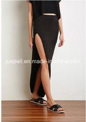 Lange Seite-Slit Elasticized Waist Maxi Skirt für New 2015 Design