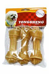 Rawhide perro huesos con nudos tabletas masticables