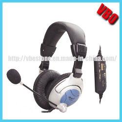 Schwingung-Kopfhörer-Computer-Kopfhörer mit Mikrofon