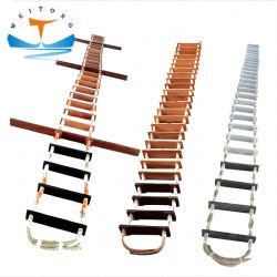 La convention Solas de certificat de CCS personnalisés navire maritime corde Heavy Duty échelle de pilote en caoutchouc pièces de rechange pour l'échelle pilote de l'étape