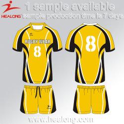 Healong Custom Team Set Sublimazione Uniforme Cheap Jersey Rugby