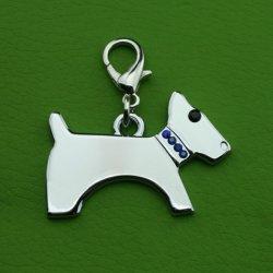 Adorável Pet Dog Tag Shape Pendente Rhinestone Jóias Charme Dog Tag Acessórios16529 ESG