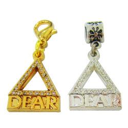Charme personnalisé Rectangle-Shaped bijoux pendentif gravé profondément le commerce de gros cadeau (charme-12)
