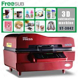 Sublimação de vácuo 3D Freesub prensa ST3042 de calor