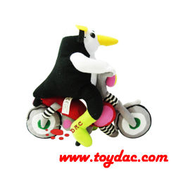プラシ天の漫画の動物のおもちゃのペンギン