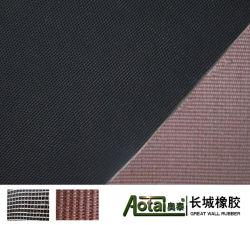 Impresionado de tela de caucho EPDM Acabado/neopreno/hoja de caucho SBR con tejido de la inserción