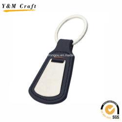 Черный цвет поощрения кольца для ключей из натуральной кожи с помощью стальной лист1040 Ym