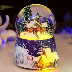 Brilhando e girar o globo de Neve/ Caixa de música/ bola de cristal/ Prendas de Natal