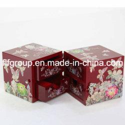 Elegante joyero de madera personalizados pintados de MDF