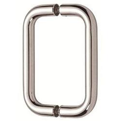 """6"""" обратно в задней части трубчатых душ двери потяните за безрамные двери душ полированный хром"""