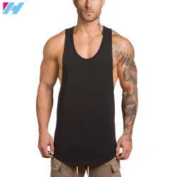 Custom Mens Vêtements de coton noir Active Fitness Gym Tank Top