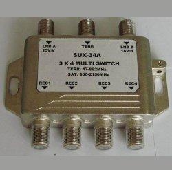 3X4 satelliet multi-Schakelaar, Schakelaar Diseqc (shj-sux-34A)