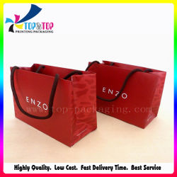 Custom 190g de petite taille des sacs de papier couché le commerce de gros