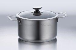 ふたが付いている経済的なステンレス鋼の台所食糧調理器具の鍋の鍋