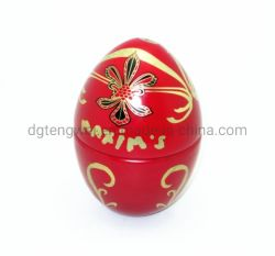 祝祭のギフトのクリスマスのギフトキャンデー卵の形の錫ボックスはキャンデーのためにできる