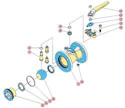 Prodotti della guarnizione della valvola a sfera fatti tramite il Peek Devlon PCTFE di PTFE