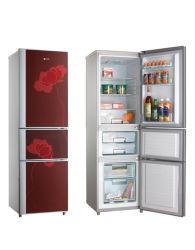 196L International eléctrico de tres puertas, de color rojo Home refrigerador/frigorífico