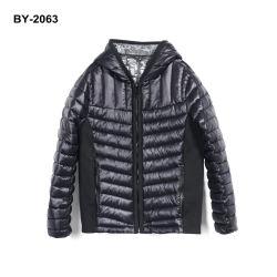Acolchoados para homens quebra-vento nexo jaqueta com forro de cor preta brilhante